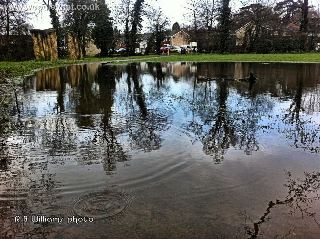 Romsey floodwater
