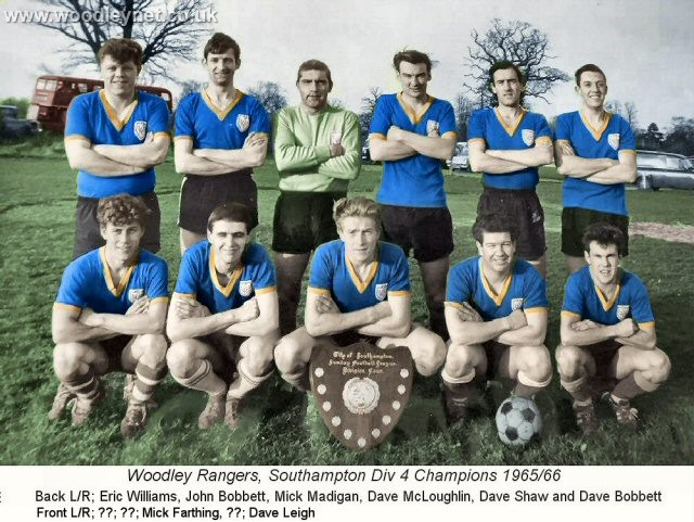 Woodley Rangers 1965-66, Dave Shaw, Dave Leigh, Mick Madigan