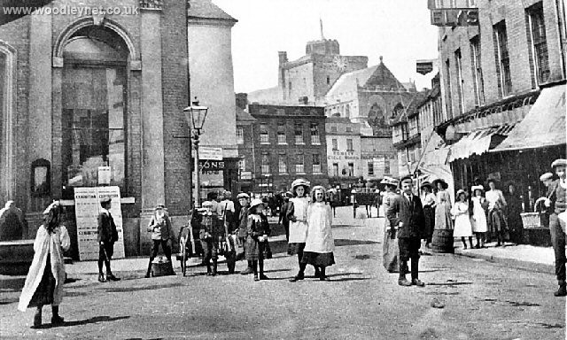 Romsey Cornmarket about 1900