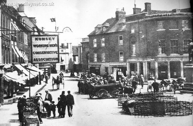 Romsey Market Place about 1900