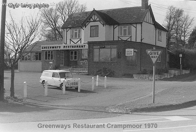 Greenways restaurant 1970