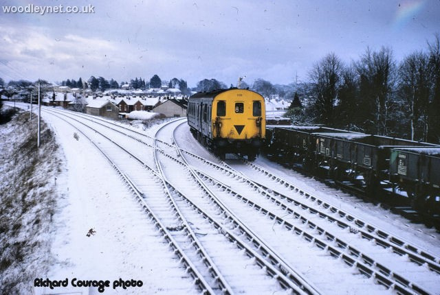 Snow on tracks Romsey 1971