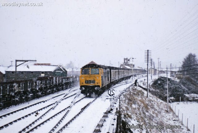 Romsey train snow